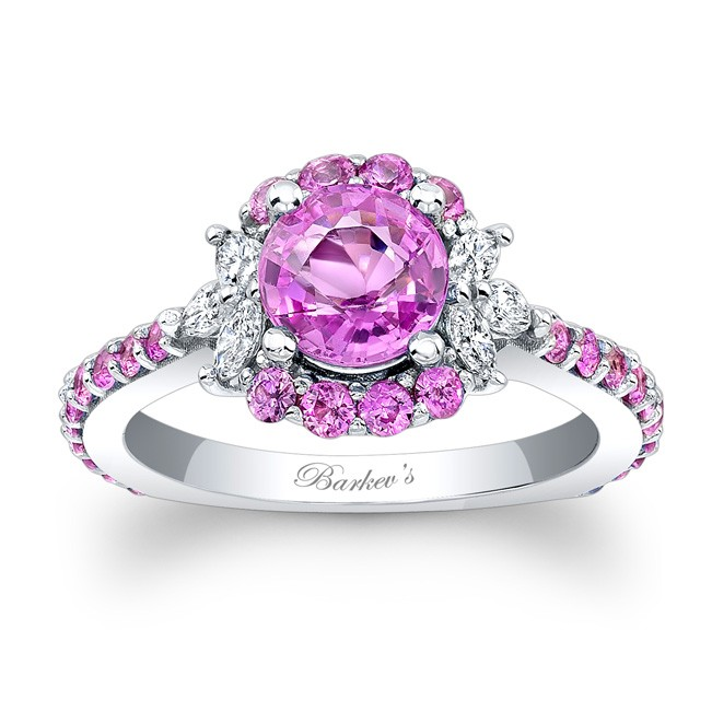 b5ae54c7e PINK SAPPHIRE ENGAGEMENT RING at www.anthonylaurencejewelers.com