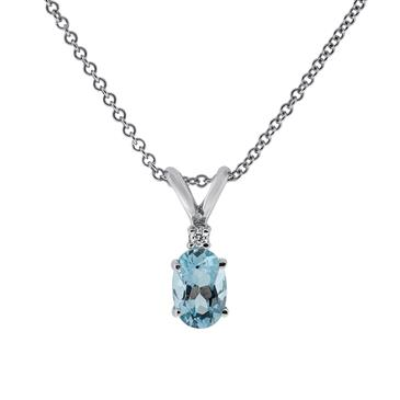 Aquamarine diamond pendant at anthonylaurencejewelers prima aquamarine diamond pendant aloadofball Image collections