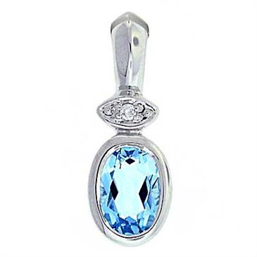 Blue topaz diamond pendant at anthonylaurencejewelers prima blue topaz diamond pendant aloadofball Image collections