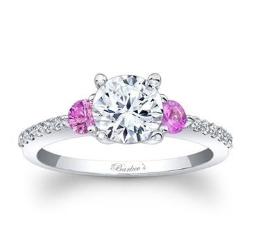 Barkevs ENGAGEMENT RING WITH PINK SAPPHIRES