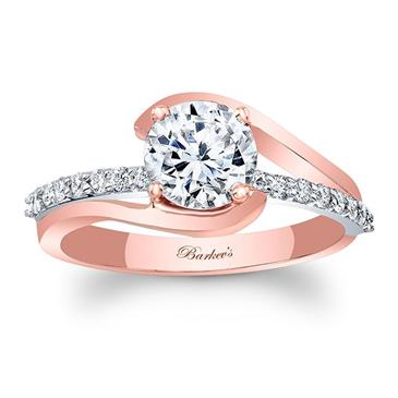 Barkevs ROSE GOLD ENGAGEMENT RING