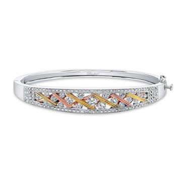 Barkevs TRI COLOR DIAMOND BRACELET
