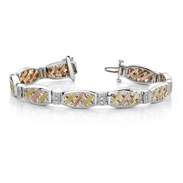 Barkevs TRI COLOR DIAMOND BRACELET - 6910BW