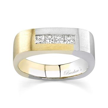 General For 1 Two Tone Mens Wedding Band