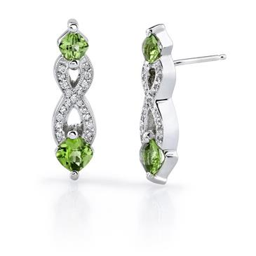 Barkevs WHITE GOLD PERIDOT EARRINGS