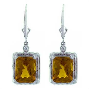 Prima Madera Citrine & Diamond Earrings