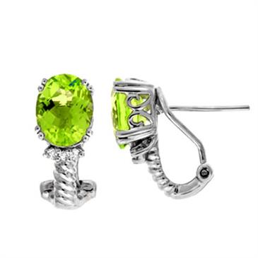Prima Peridot & Diamond Earrings