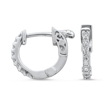 Prima Small Diamond Hoop Earrings
