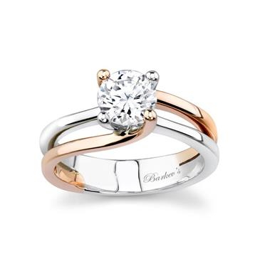 White Rose Gold Solitaire Engagement Ring At Www Anthonylaurencejewelers Com