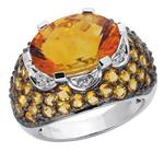 Prima     Diamond & Citrine Ring